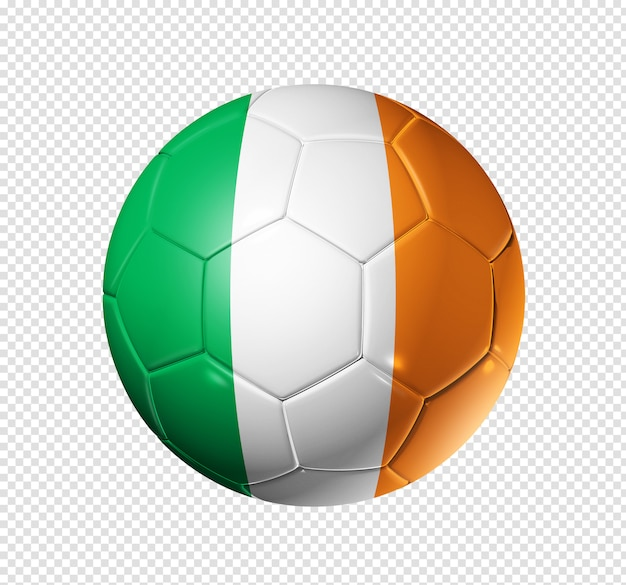 Soccer football ball with ireland flag