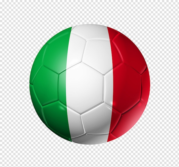 Soccer football ball with italy flag