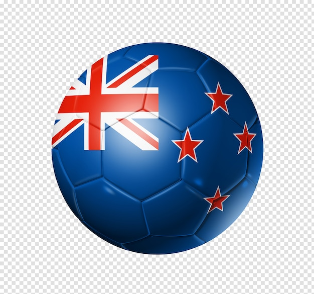 Soccer football ball with new zealand flag