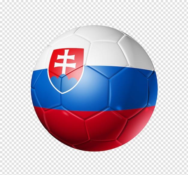 슬로바키아 국기와 함께 축구 공 축구