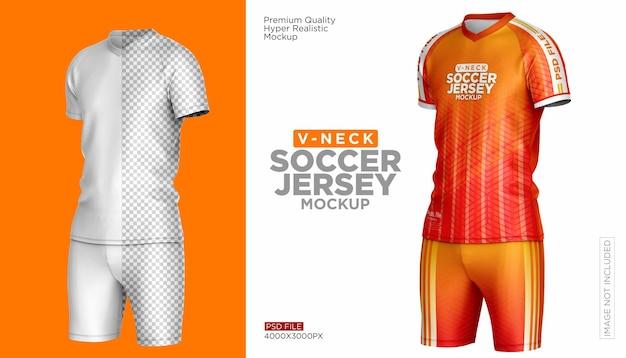 Soccer jersey kit mockup