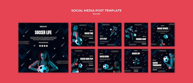 Soccer social media post template