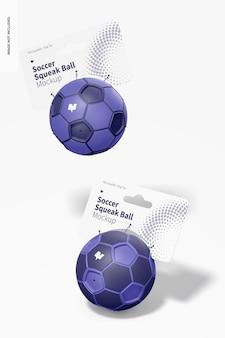 축구 찍찍이 공 모형, 떨어지는