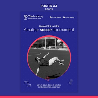 축구 대회 포스터 템플릿