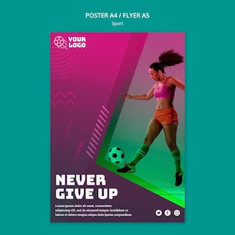 Soccer training flyer template