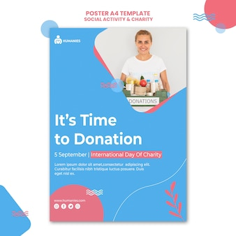 Social activity and charity poster template