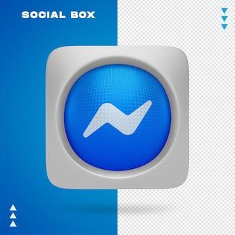 고립 된 3d 렌더링에서 상자에 사회 아이콘