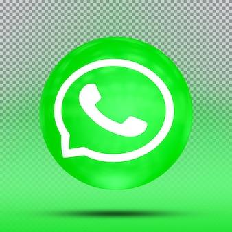 Social media 3d collection of icon balloon template whatsapp