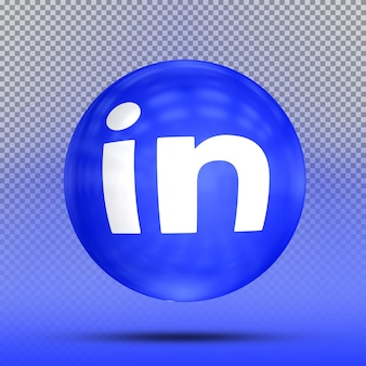 아이콘 풍선 템플릿의 소셜 미디어 3d 컬렉션 linkedin