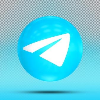 아이콘 풍선 템플릿 telgrame의 소셜 미디어 3d 컬렉션