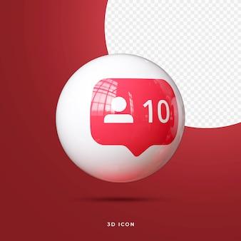 Социальные сети 3d icon premium
