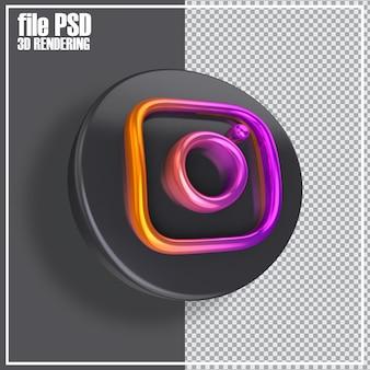 ソーシャルメディアの3dアイコンのレンダリング