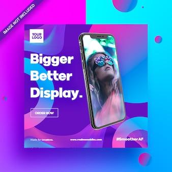 Social media ad flyer