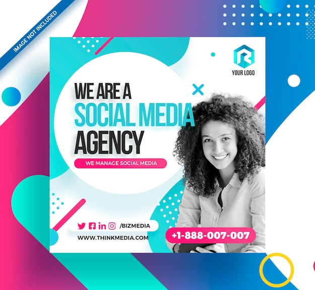 Social media agency square post instagram banner