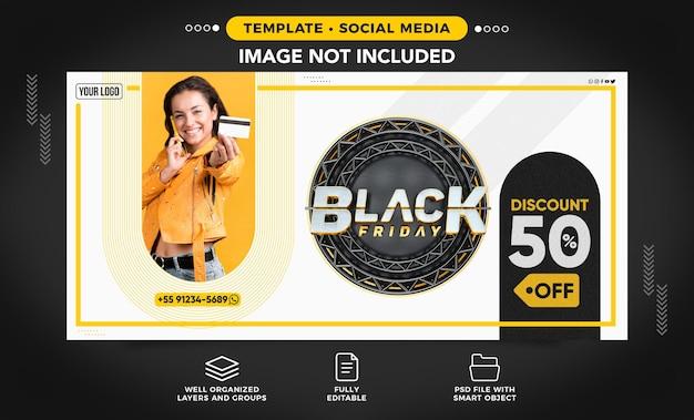 Social media banner for black friday discount