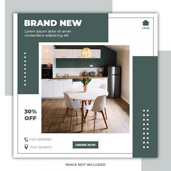 Social media banner furniture templates