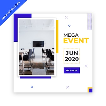 Social media banner template for business conference