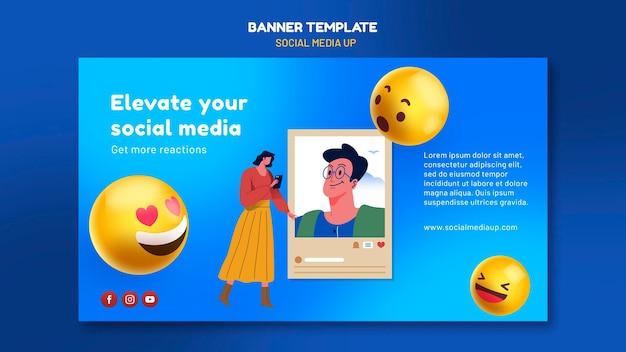 Шаблон баннера в социальных сетях