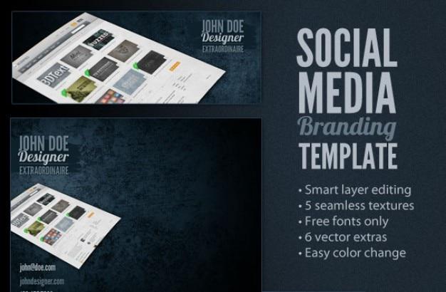 Social media branding template