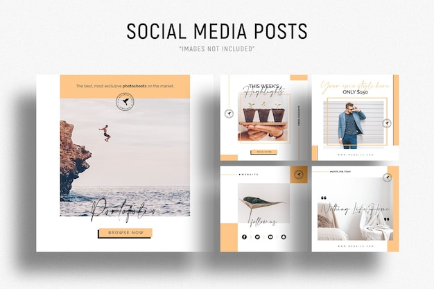 Шаблон бизнес-баннеров в социальных сетях