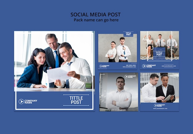 Social media concept for business template