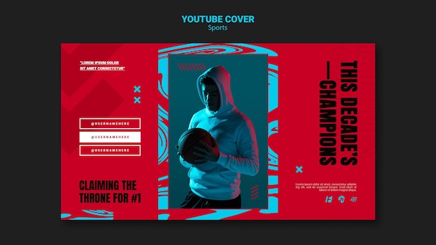 Modello di copertina dei social media per la partita di basket