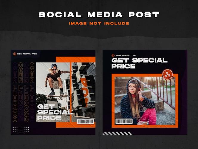 Social media design instagram temlpate