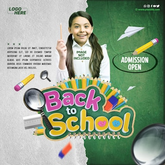 Social media feed back to school admission open