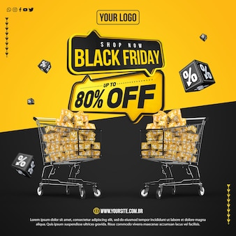 Social media feed black friday with up to 80 discount