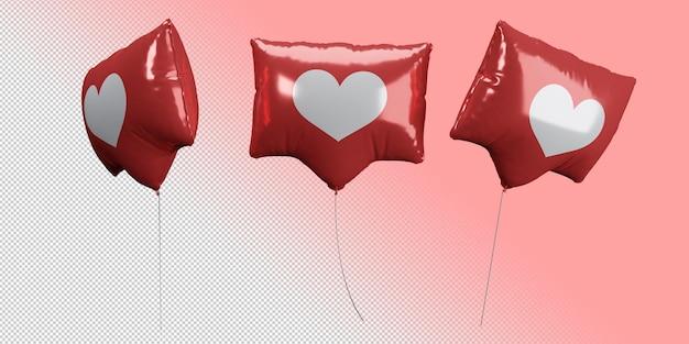 Воздушные шары в форме сердца в социальных сетях с разных точек зрения