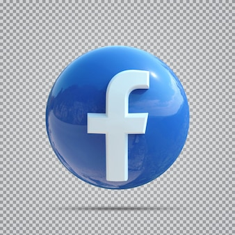 Значок социальных сетей facebook 3d