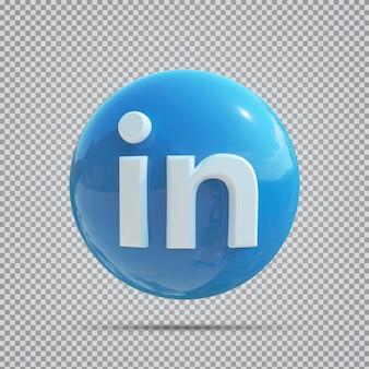 소셜 미디어 아이콘 linkedin 3d