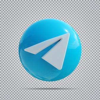 Значок социальных сетей telegram 3d