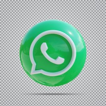소셜 미디어 아이콘 whats app 3d