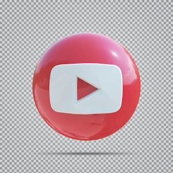 Значок социальных сетей youtube 3d