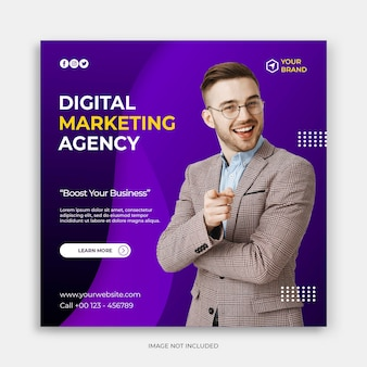 Social media instagram post banner template with modern corporate concept instagram post template