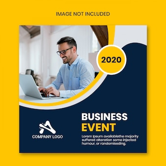 Social media instagram post by business event