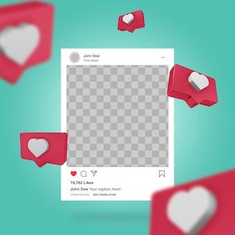 ソーシャルメディアのinstagramの投稿テンプレート