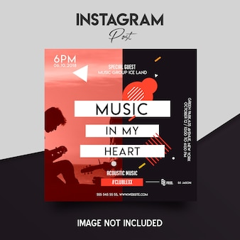 Social media instagram post