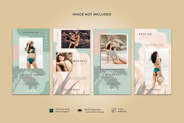 Social media instagram story post banner template collection