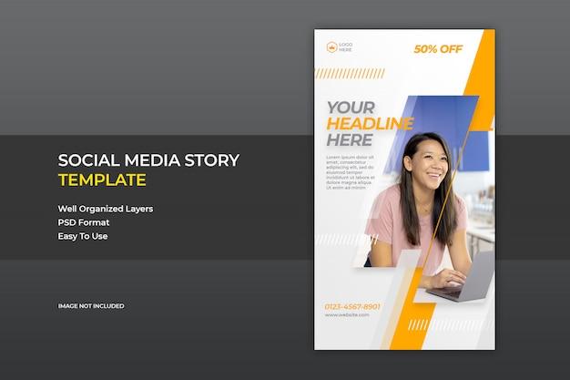 Social media instagram story sale banner template