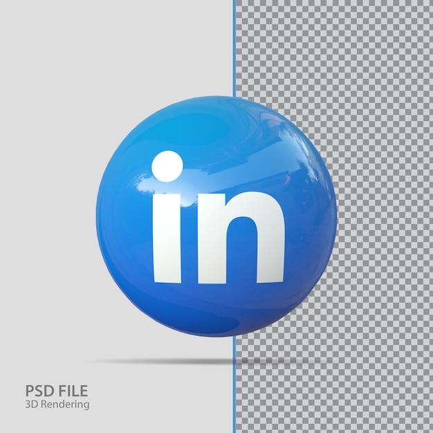 Социальные медиа linkedin 3d визуализации