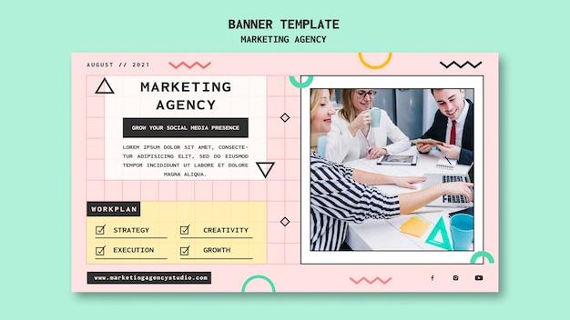 Social media marketing agency banner template