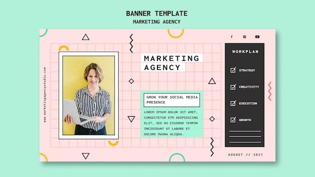 Шаблон баннера маркетингового агентства в социальных сетях