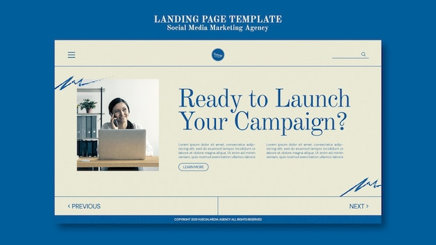 Social media marketing agency design template