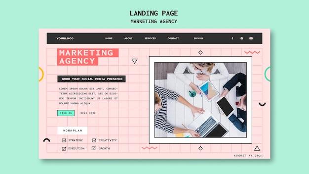 Шаблон целевой страницы маркетингового агентства в социальных сетях