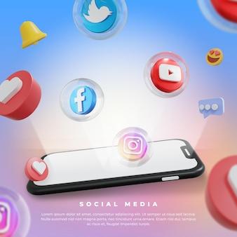 Social media marketing instagram post template