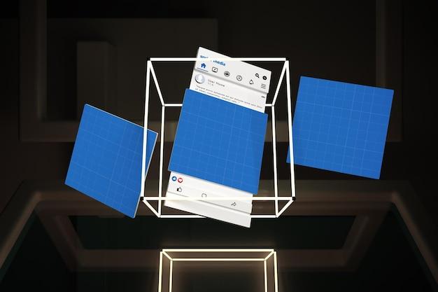 Social media neon