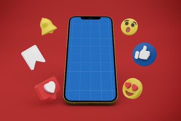 Social media and phone mockup