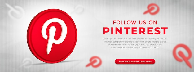3d 렌더링의 소셜 미디어 pinterest 앱 아이콘